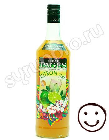 Сироп Pages Зеленый лимон