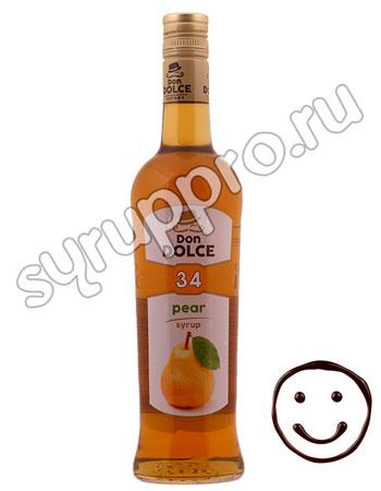 Сироп Don Dolce Груша 0.7 л