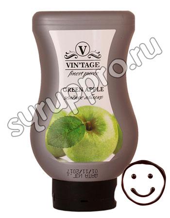Фруктовое пюре Vintage Зеленое яблоко 650 гр