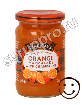 Джем Mackays из апельсина с шампанским 340 гр