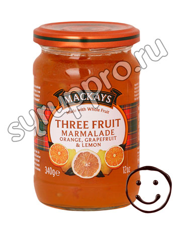Джем Mackays из трех фруктов 340 гр