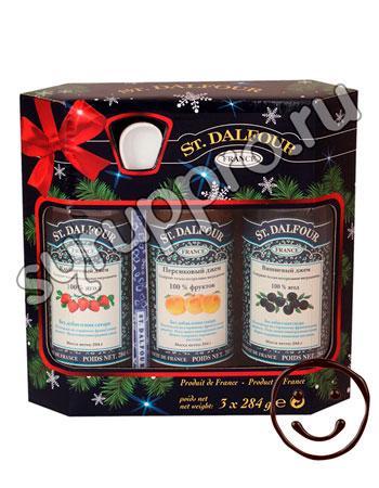 Подарочный набор St.Dalfour с фарфоровой ложкой и 3 вида джема 852 гр