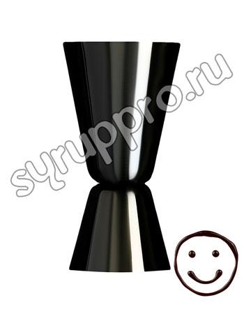Джиггер 25/50 сталь, никель (LD008-L-BN) черный
