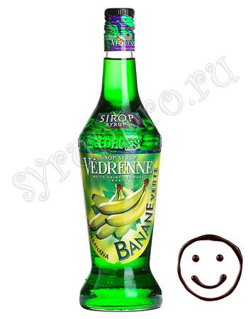 Сироп Vedrenne Зеленый банан 700 мл