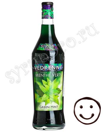 Сироп Vedrenne Зеленая Мята 1л