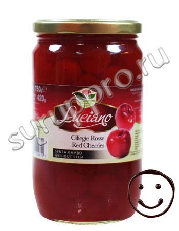 Коктейльная вишня Luciano Красная без черенков 750 мл