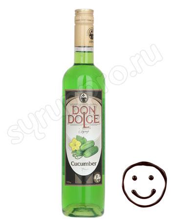 Сироп Don Dolce Огуречный 0,7 л
